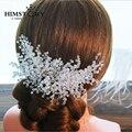 Ручной Блестящий кристалл Rhinestone Свадьба Аксессуары Для Волос Свадебный Волосы Клип Принцесса Сторона Зажим Для Волос Ювелирные Изделия