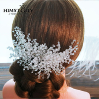 Handmade Shiny Crystal Rhinestone Wedding Hair Accessories Bridal Hair Clip Princess Side Clip Hair Jewellery