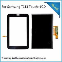 Venta caliente de 7 pulgadas Para Samsung Galaxy Tab 3 Lite 7.0 pulgadas SM-T113 T113LCD Pantalla Con Sensor Táctil Digitalizador Partes tablet pc
