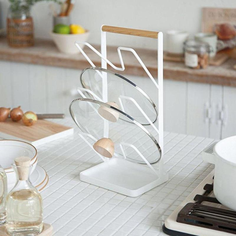 1pc Cutting Boards Pot Lid Stand Holder Kitchen Organizer Rack Storage Cover Stand Stainless Steel Dish Rack #30