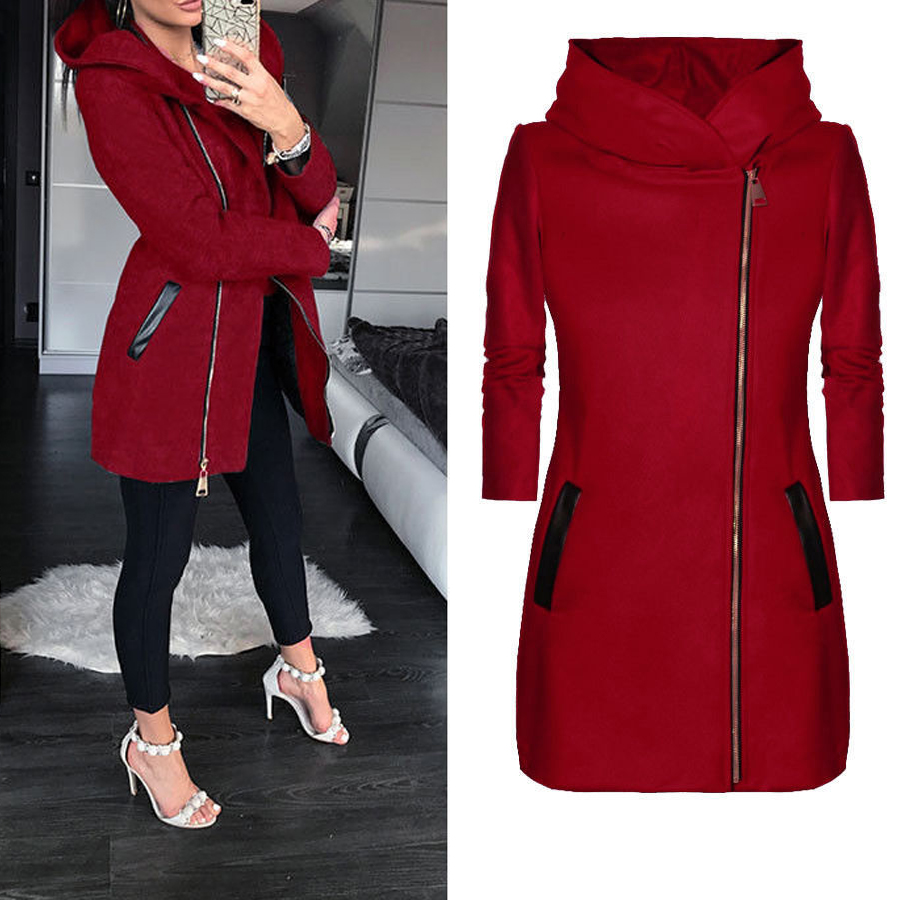 3e2a90f8db Jaqueta de Inverno das mulheres Zíper Fino Outerwear Moda Primavera ...