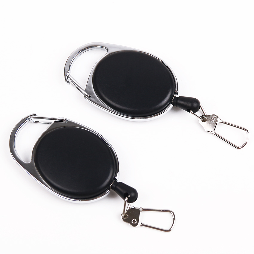 2PCS/lot Retractable Pull Keychain Lanyard ID Badge Holder Name Tag Card Belt Clip Key Ring Buckle Badge Holder Accessories 10pcs lot retractable pull badge reel zinc alloy abs plastic id lanyard name tag card badge holder reels