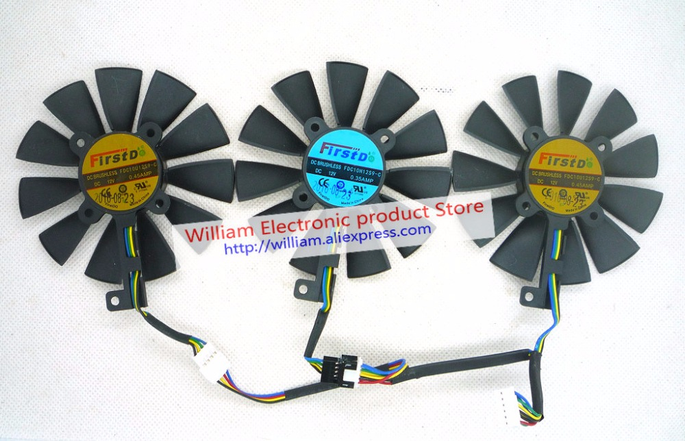 Tarjeta gráfica original ventilador de refrigeración para STRIX-RX480-O8G-GAMING GTX1060-O6G-GAMING GTX1070 FDC10H12S9-C FDC10U12S9-C fonsoning