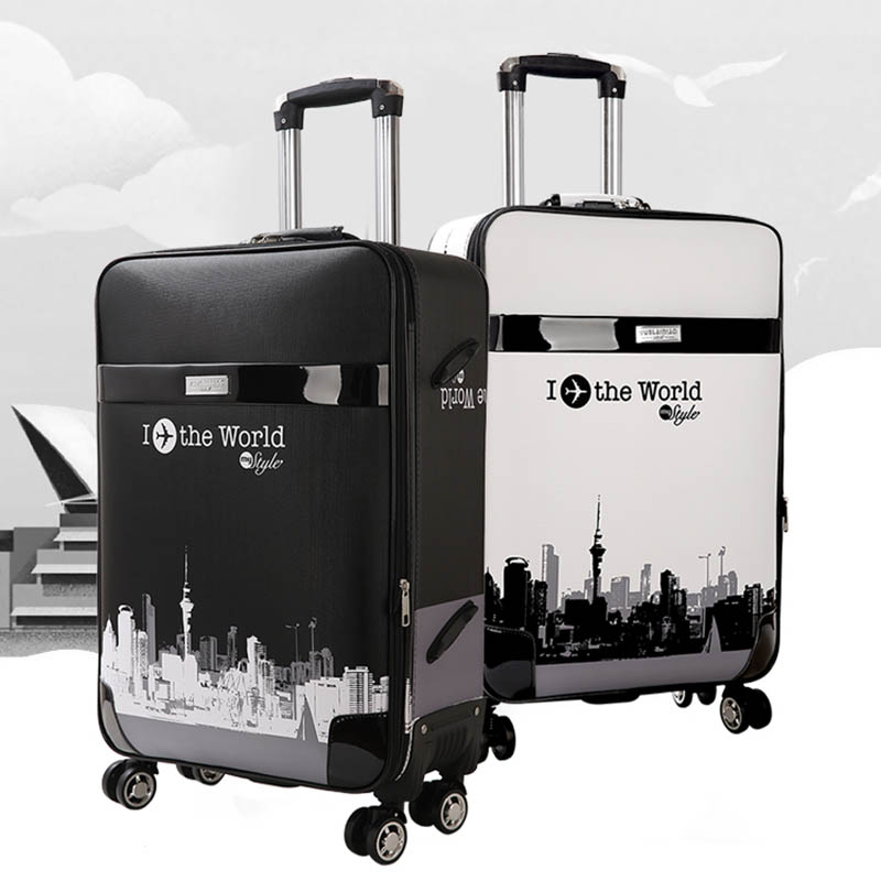 LeTrend Rolling Luggage Spinner 28 inch large capacity Suitcase Wheels 26 inch password Trolley Korean version
