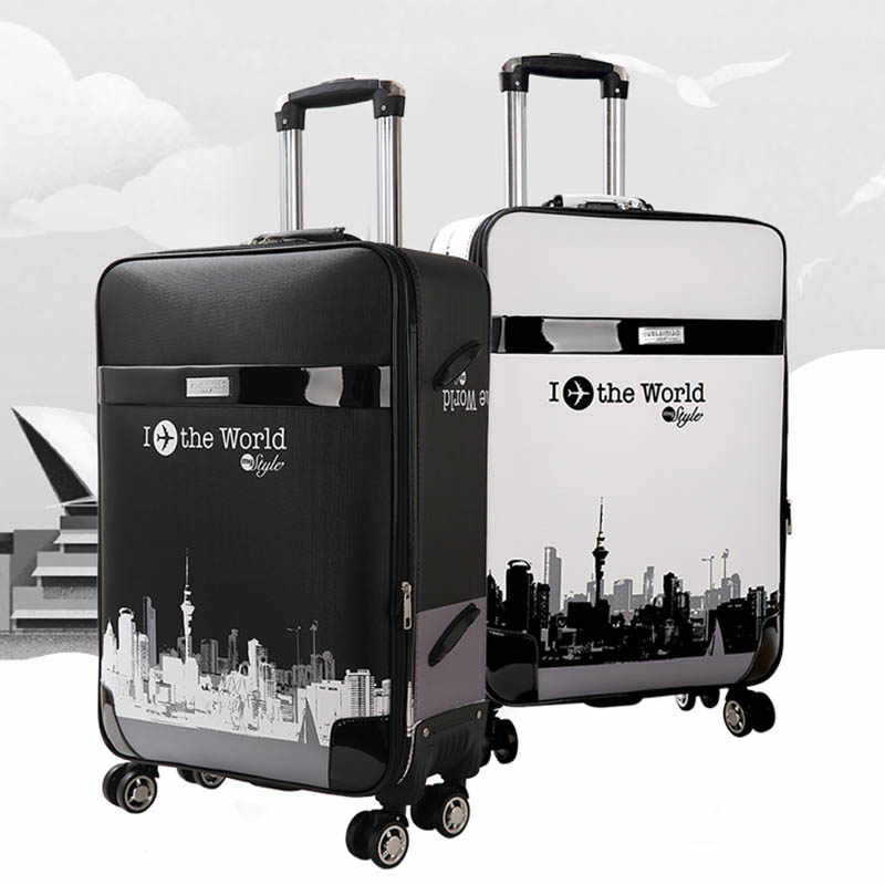 d1f606ef7 LeTrend Rolling Luggage Spinner 28 inch large capacity Suitcase Wheels 26  inch password Trolley Korean version