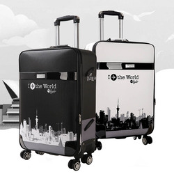 LeTrend Rolling Luggage Spinner 28 inch large capacity Suitcase Wheels 26 inch password Trolley Korean version Travel Bags Trunk