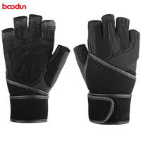 BOODUN Men Women Bracers Fitness Gloves Weight Lifting Anti Skid Cross Fit Gym Fitness Waist Wrap Compression Dumbbell Gloves