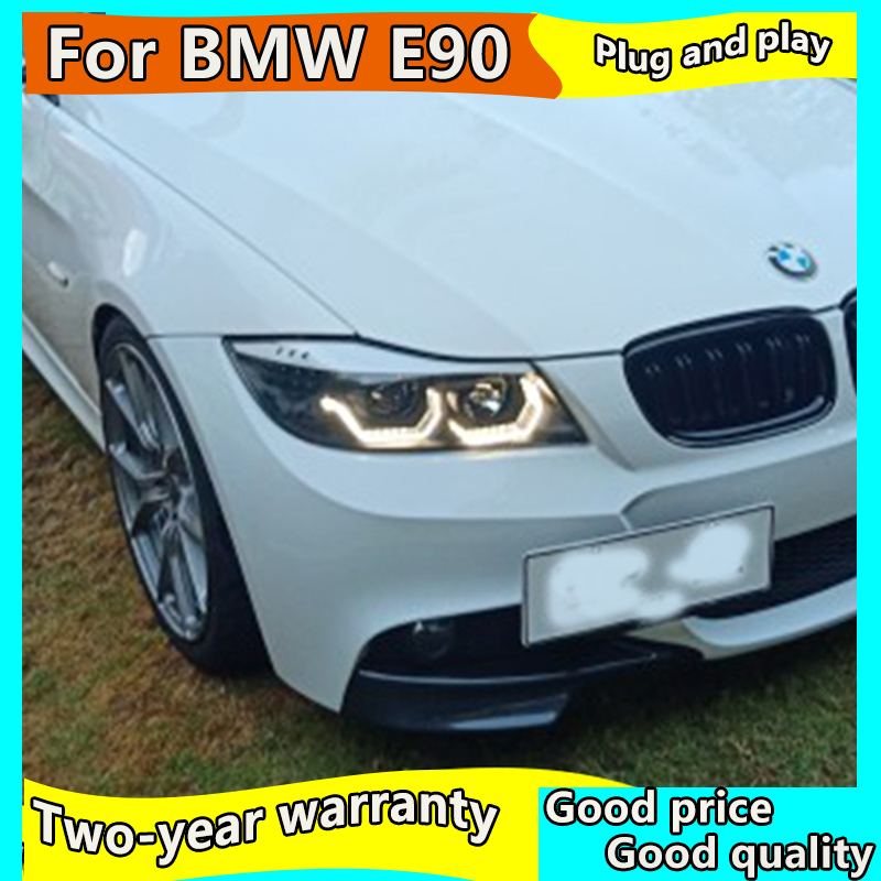 Car <font><b>Headlight</b></font> for <font><b>BMW</b></font> <font><b>E90</b></font> 330I 320I 318i <font><b>led</b></font> Angel Eyes <font><b>headlight</b></font> 2005-2012 year <font><b>E90</b></font> Headlighs DRL++Turn Signal+Brake+Reverse image