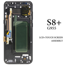 6.2'' G955 AMOLED Display For Samsung Galaxy S8 Plus LCD Screen With Frame Assembly Phone Replacement For Samsung S8P S8+ Screen