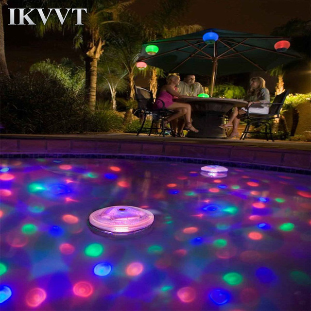 US $12.09  Swimming Pool Lights Floating Underwater LED Disco Light Glow  Show Swimming Pool Hot Tub Spa Lamp for Hot Tub Pond -in LED Underwater ...