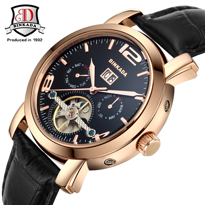 Здесь продается  Relogio masculino 2017 BINKADA Watches Men Luxury Brand Mechanical Watch Clock Men Casual Watch Reloj Business Wristwatch  Часы