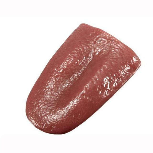 100 Brand New Kuso Tongue Trick Magic Horrible Tongue Fake Tounge Realistic Elasticity Toy Practical Jokes Dropship Y1115