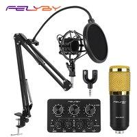 HOT! BM 800 capacitivo gravação karaoke microfone & condensador microfone para computador com função Multi placa de som ao vivo|recording microphone|microphone for computercondenser microphone -