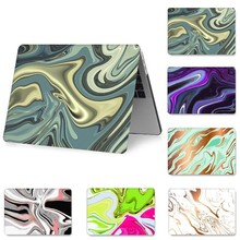 NEW Marble Laptop Cover for MacBook Retina 15 13 12 inch 2018 Air 13 11 Anti-scratch Case for MacBook Pro 13 15 Funda A1534