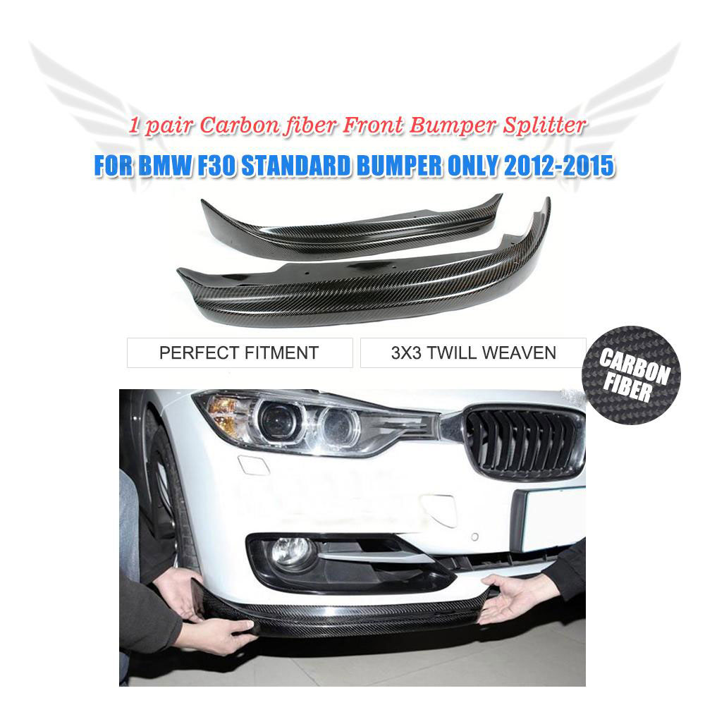 Carbon Fiber Car Front Splitters Lip Aprons For BMW 3 Series F30 Standard Sedan 4 Door 2012-2015 Non M Sport 335i
