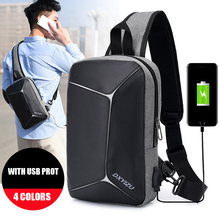 Male  2019 NEW Fashion Casual Men Chest Pack Single Shoulder Bags USB Charge Crossbody