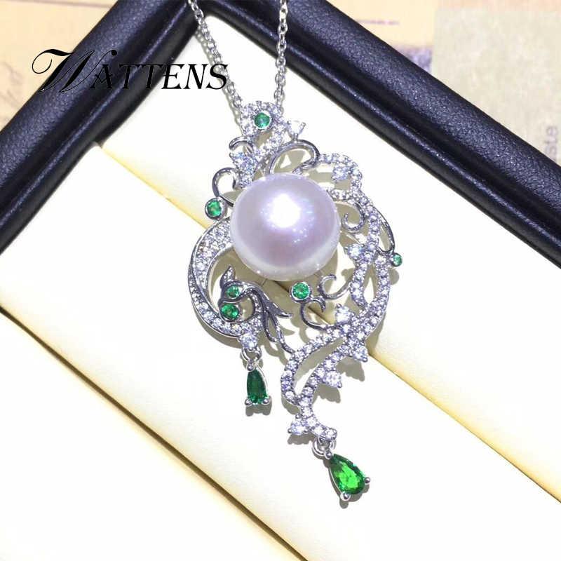 Ngọc Trai tự nhiên bộ vòng cổ ngọc trai bông tai nhẫn phụ nữ 925 sterling silver bạc Phoenix Màu Xanh Lá Cây zircon đồ trang sức thiết wedding party Quà Tặng
