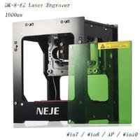 NEJE 2019 hot selling new 1000mw 405nm Ai laser engraver Wood Router DIY Desktop Laser Cutter Printer Engraver Cutting Machine