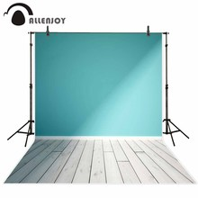 Allenjoy photography background Blue pure color wall White wood floor backdrop photo background studio camera fotografica