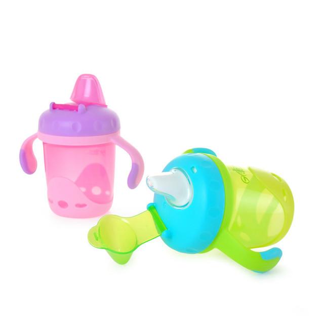 O projeto original anti vazamento anti choke alimentação palha cup copos bebê segurança crianças aprendem a beber cup com alça