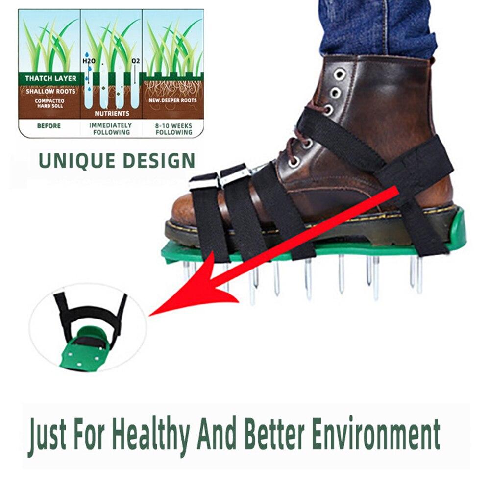Rasen Belüfter Schuhe Verstellbaren Trägern Versetzt Belüften Rasen Sandalen Garten Hof Gras Grubber Rasen Belüfter Nagel Schuhe