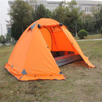 Hot Outdoor Camping Double Layer 2 Person Aluminum Rod Tent Waterproof Windproof High Strength Camping Tent