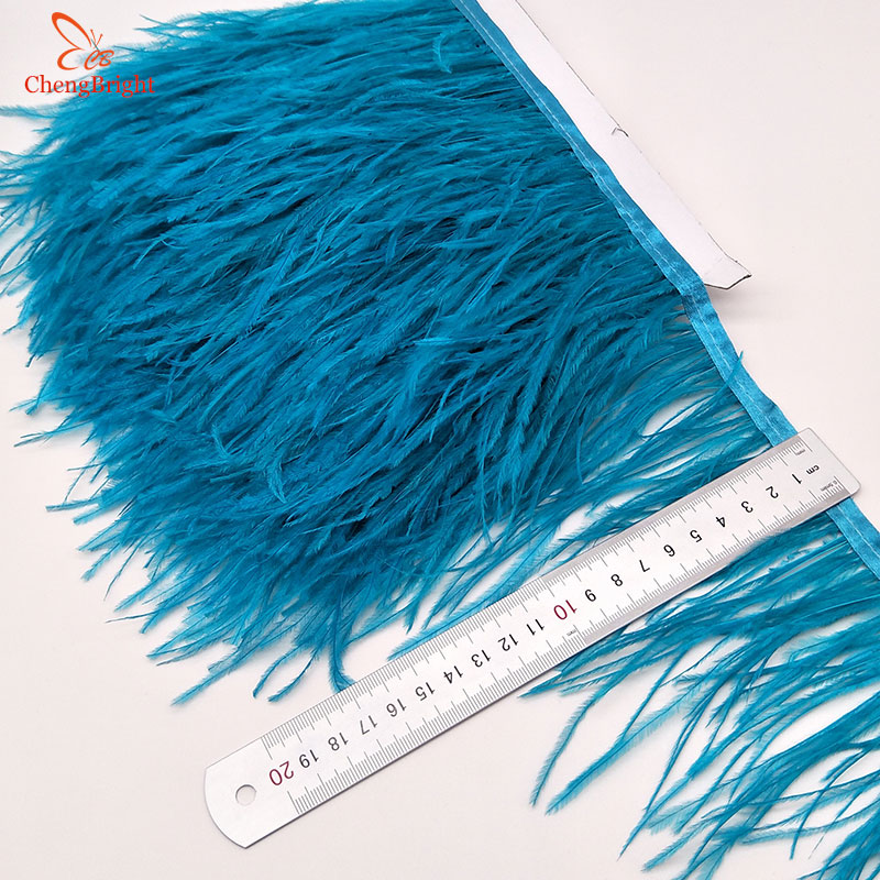 """10 TURQUOISE OSTRICH FEATHERS 10-11/""""L"""