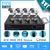 Home 8CH CCTV Security Camera Set Day Night 600tvl Camera With 8channel DVR Kit 1tb Hard