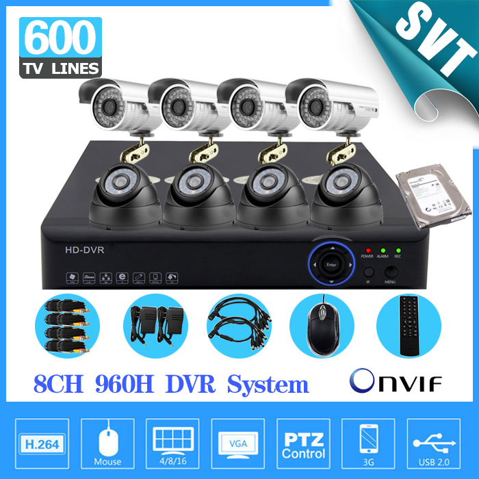 Home 8CH CCTV Security camera set day night 600tvl Camera 8channel DVR Kit 1tb hard drive Color Video Surveillance System SK-059 home 8ch cctv security camera set day night 600tvl camera 8channel dvr kit 1tb hard drive color video surveillance system sk 059