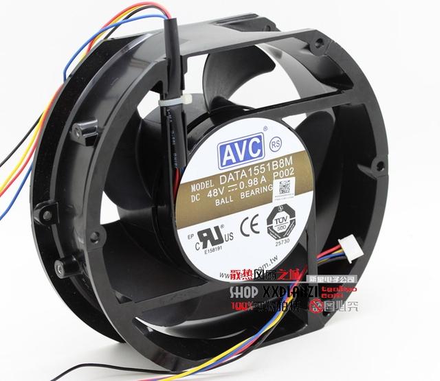 Full metal DATA1551B8M originais 17050 48 V 0.98A 17 CM controle industrial máquina de grande volume de ar