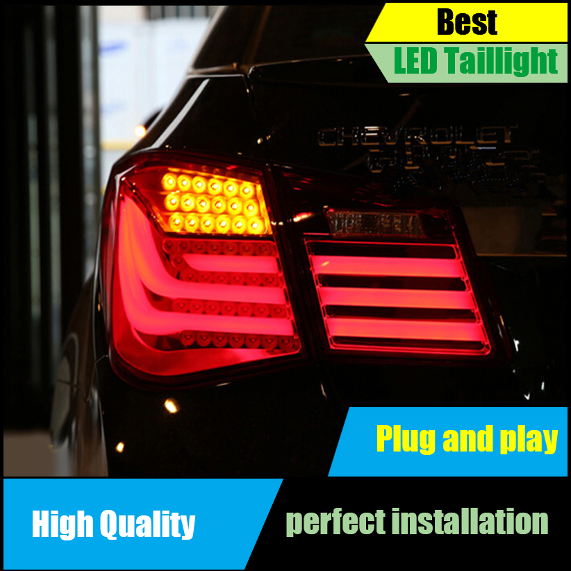 Car Styling for Chevrolet Cruze TailLights BMW Design 2009 2010 2011 2012 2013 LED Tail Light Rear Lamp DRL+Brake+Park+Signal en car styling led tail lamp for chevrolet cruze 2009 2014 sedan taillights rear light drl turn signal brake reverse accessories