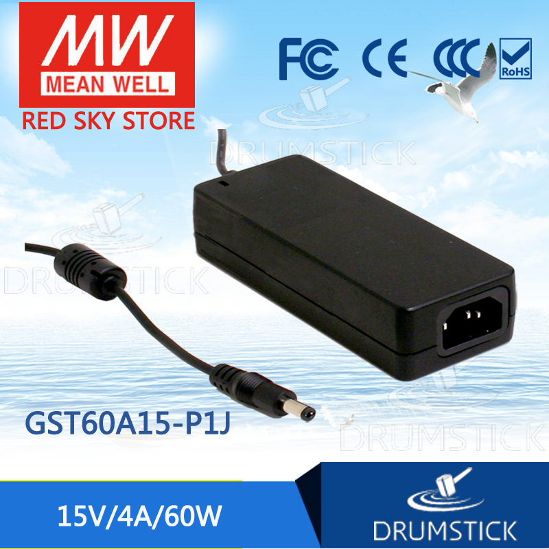 цена на Best-selling MEAN WELL GST60A15-P1J 15V 4A meanwell GST60A 15V 60W AC-DC High Reliability Industrial Adaptor
