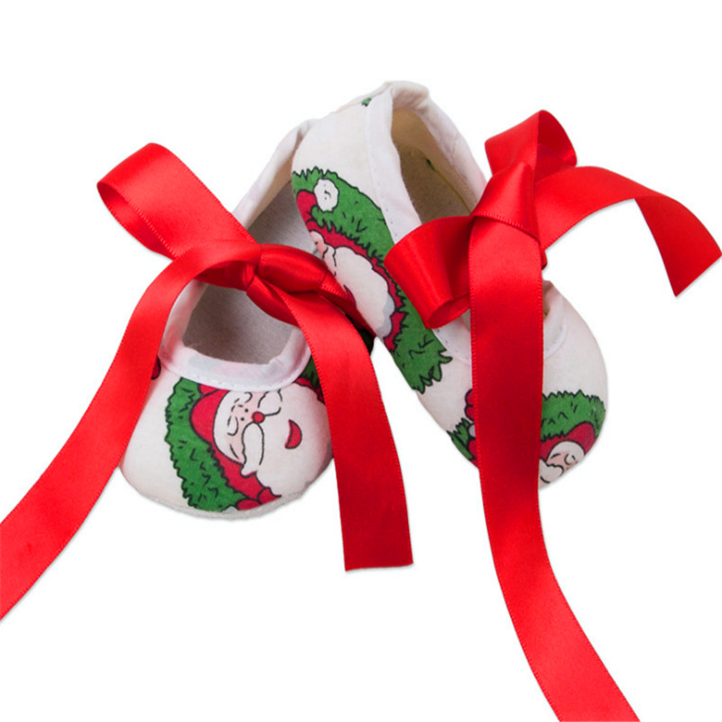 2018 spring and autumn new fashion trend 0-2 years old toddler shoes bow Christmas festival