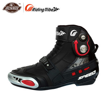 RidingTribe Motorcycle Boots Motocross Boots Short Boots Knight Motorcycle Road Racing Riding hoes Durable Slip-gear for Men