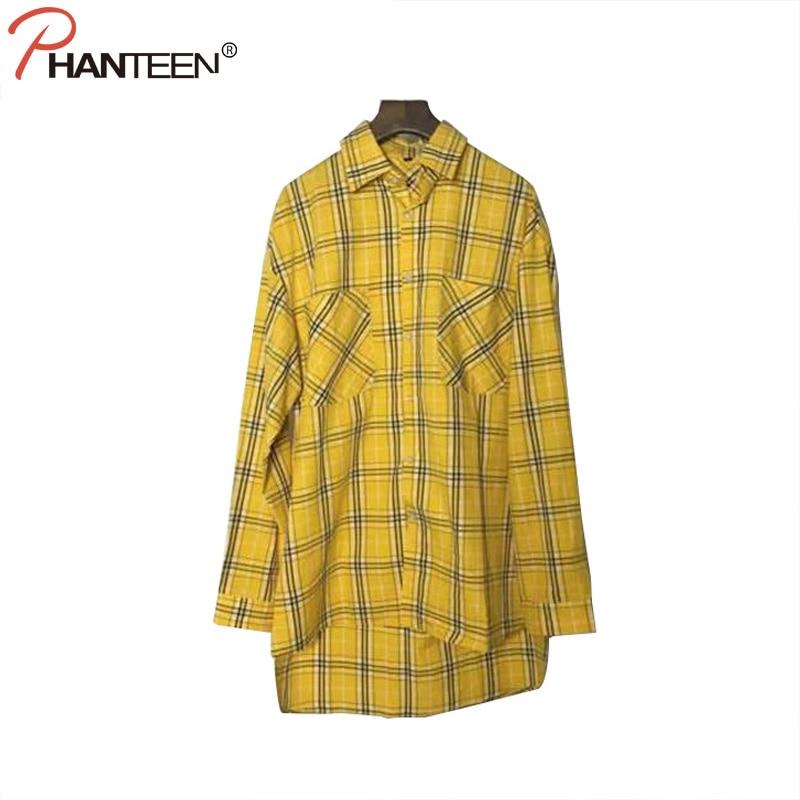 Online Get Cheap Long Yellow Plaid Shirt Men -Aliexpress.com ...