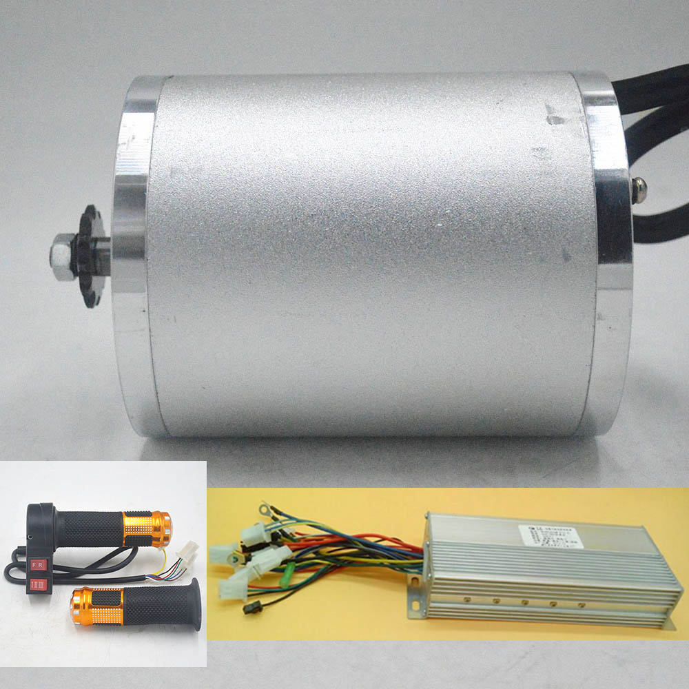 48V <font><b>60V</b></font> <font><b>2000W</b></font> Electric <font><b>Motor</b></font> ebike <font><b>motor</b></font> bldc with Brushless Controller Twist Throttle kit for electric bicycle/scooter/tricycle image