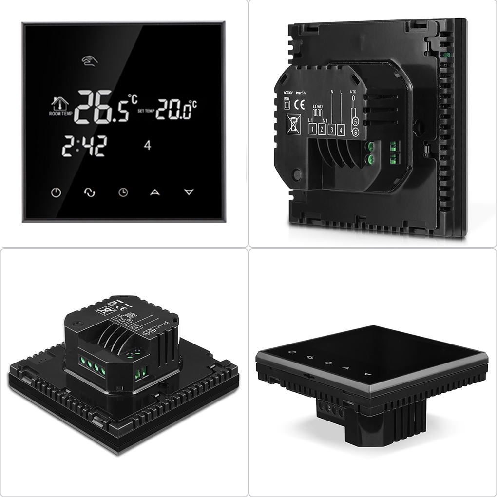 Water Floor Heating Thermostat Smart WIFI Programmable Temperature Controller LCD Display Touchscreen Thermostat touchscreen colourful programmable room thermostat for water heating with modbus function