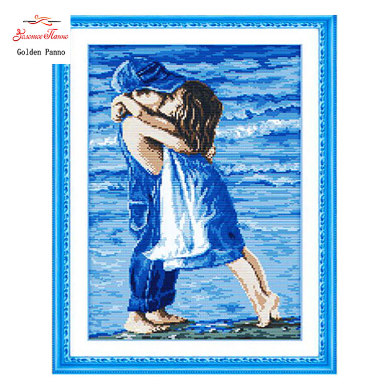 Needlework,DIY DMC Cross stitch,Sets For Embroidery kits,sea lovers home decor Counted Cross-Stitching,factory direct sale