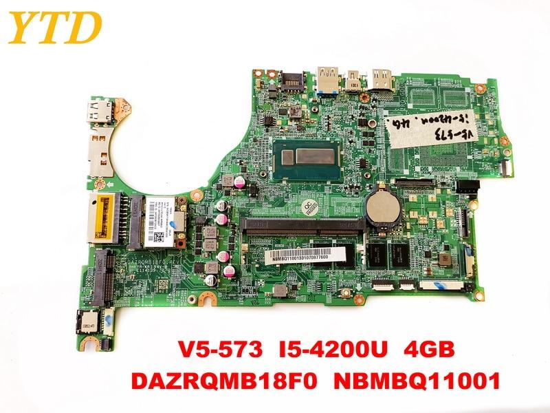 Original for font b ACER b font V5 573 laptop motherboard V5 573 I5 4200U 4GB