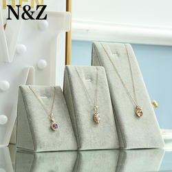 N & Z 3 шт./компл. Серый Jewelry Подвеска Дисплей завернутый со льдом бархата Подставка для ювелирных счетчик жемчуг кулон/ цепочки и ожерелья