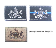 Embroidered Patches United States State Flag Patch Tactical 3D Badge pennsylvania Flags Armband Badges