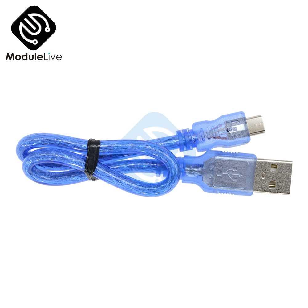 30 Cm USB 2.0 untuk Micro USB 5 Pin Male Kabel Data Biaya Kabel