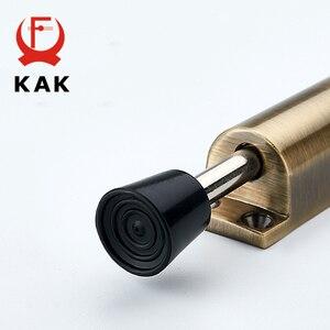 Image 5 - Kak batentes da porta com pé, alavanca de liga de zinco ajustável, suporte de porta em bronze