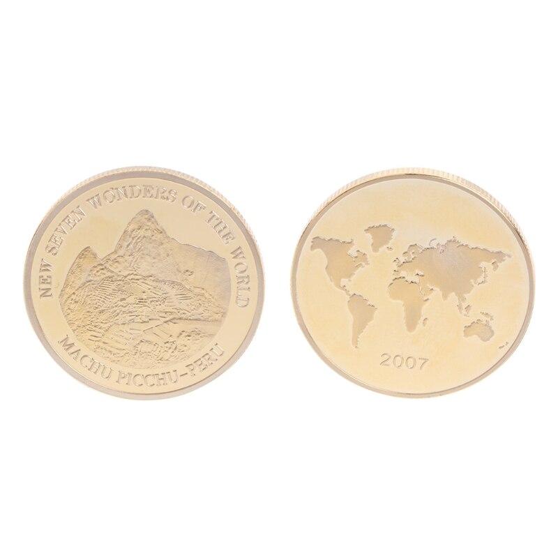 Attivo Moneta Commemorativa Placcato Oro Perù Rovine Meraviglie Per Souvenir Collezione D'arte Nuova Qualità