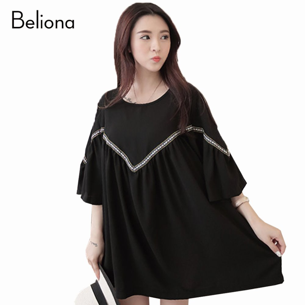 Compare prices on stylish maternity dress online shoppingbuy low summer new cute maternity dresses loose casual maternity clothes for pregnant women stylish bat sleeved ombrellifo Gallery
