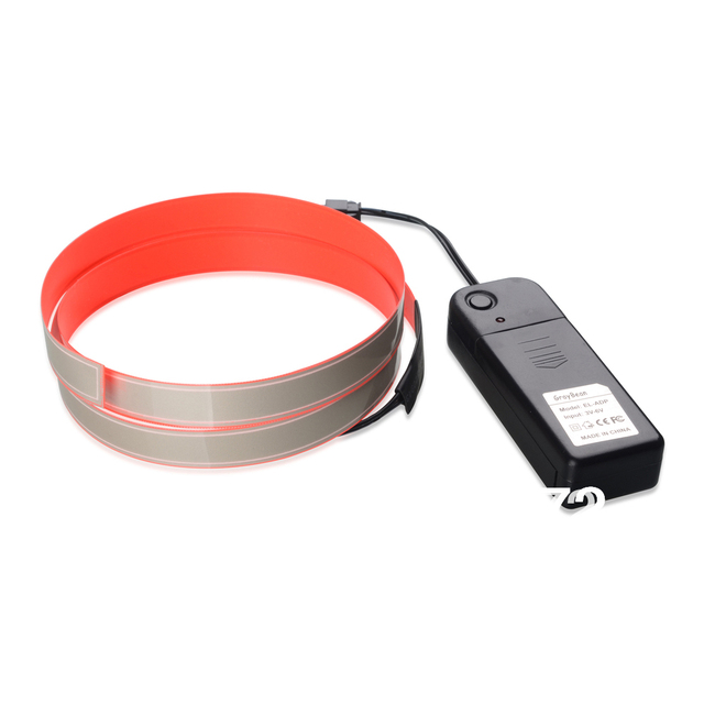 3ft * 1.5cm Red 2014 Novelty lighting  EL holiday night light  for house car decoration indoor with Battery box