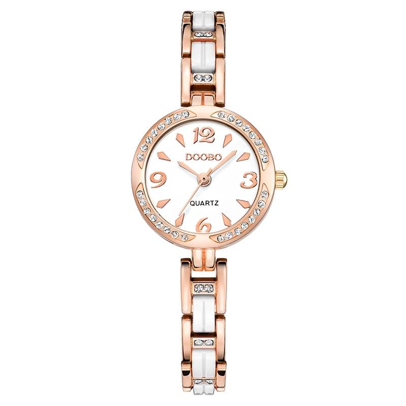 DOOBO luksusowa Moda damska zegarki zegarek kwarcowy bransoletka - Zegarki damskie - Zdjęcie 4