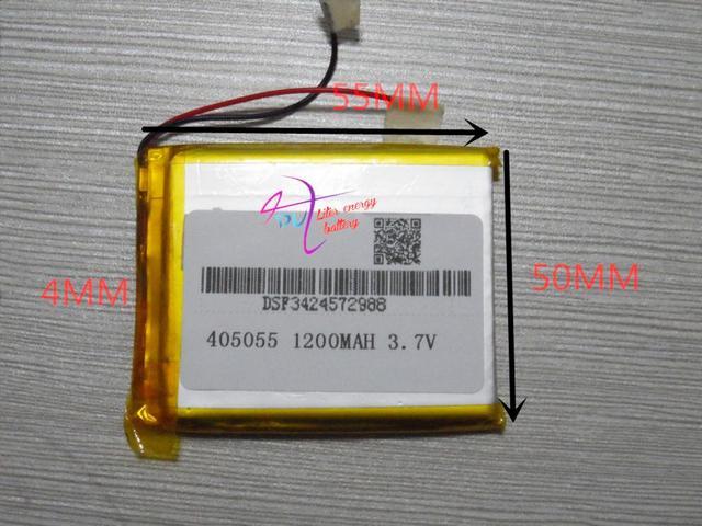 Mejor marca de la batería 3.7 V batería de la tableta 405055 ebook navigator MP4 PSP 1200 mAH 045055
