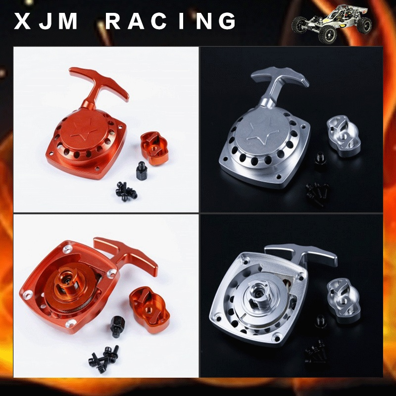 CNC Metal easy pull starting with starter pulley for 1/5 Zenoah rovan 32cc engine rc car parts cnc aluminum water cooling jacket for 29cc zenoah engine rc boat