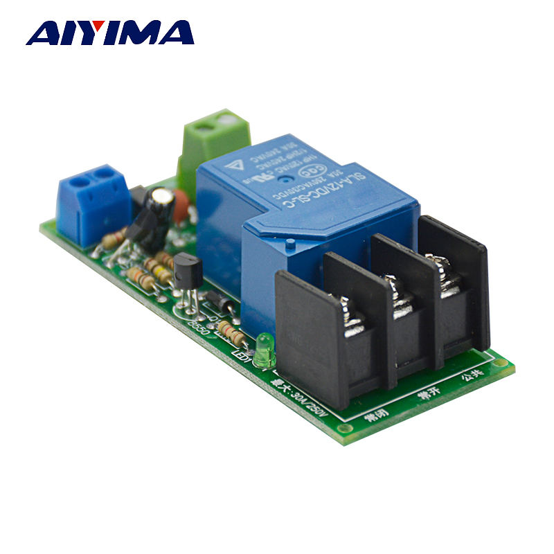 Aiyima DC 12V Multifunction Delay Timing on/off Relay Module 30A Switch Timer 1s-1 hour dc 12v delay relay delay turn on delay turn off switch module with timer mar15 0